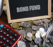 "Image of a chalkboard reading ""Bond fund"""